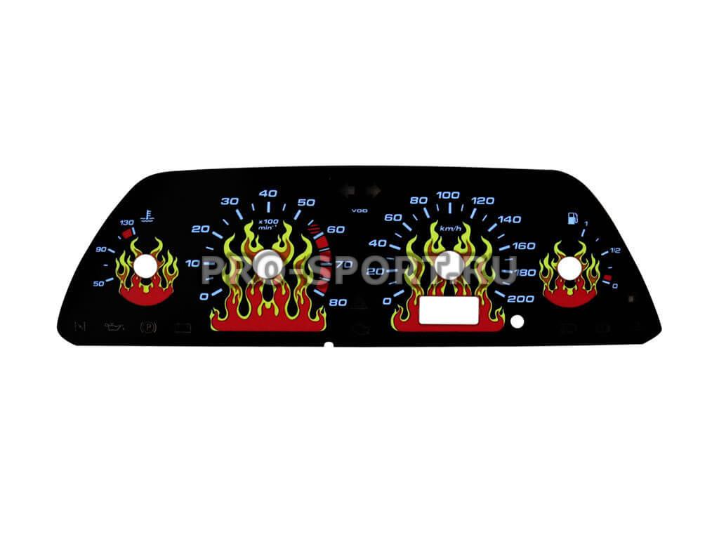 Вставка в щиток приб. ВАЗ 2110 (VDO 1 окно) Живое пламя, черная