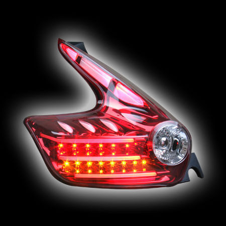 NISSAN JUKE 10- фонари задние, светодиодные, с поворотником, красные, прозрачные, светодиодный поворотник