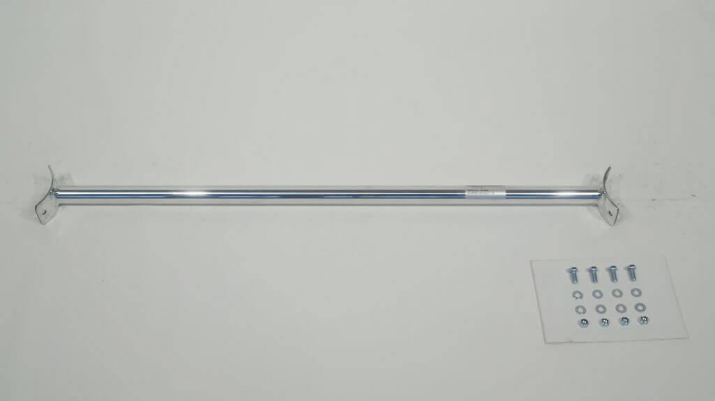 Rear strut bar aluminium VW Polo I-III, without Catalyst ЋдносоставнаЯ растЯжка стоек устанавливаетсЯ с помощью винтов в промежуточном положениию 'оответствующие отверстиЯ должны быть просверлены.