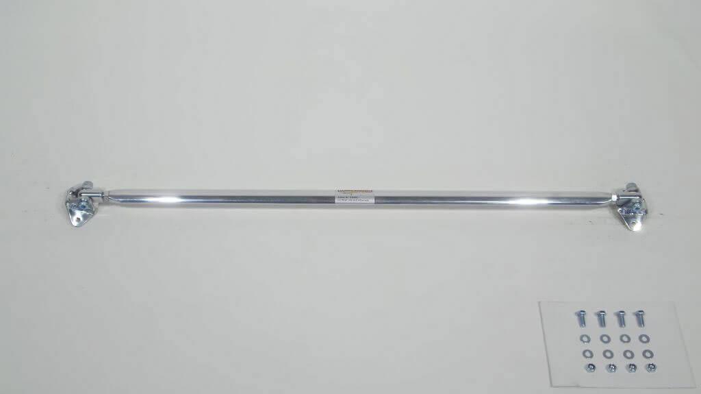 Rear strut bar aluminium racingline/carbon look VW Corrado G60 ЋдносоставнаЯ растЯжка стоек устанавливаетсЯ с помощью винтов в промежуточном положениию 'оответствующие отверстиЯ должны быть просверлен