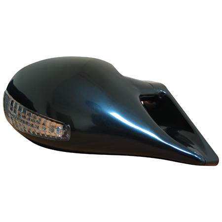 Зеркало с эл.приводом, + светодиодный поворотник, черное (4 провода)